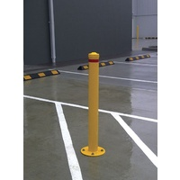 Steel Fixed Base Plate Bollard 90x900mm
