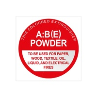 Fire Extinguisher Signs - Powder ABE - Plastic