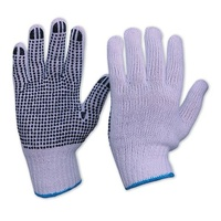 Knitted Poly/Cotton Gloves with Pvc dots