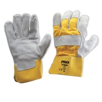 Yellow Grey Leather Glove - Heavy Duty