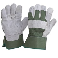 Green Leather Glove