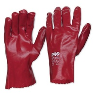 Red PVC Gloves - 27cm