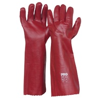 Red PVC Gloves - 45cm