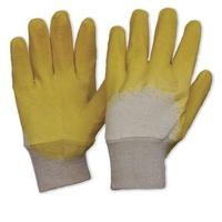 Yellow Latex Glass Gripper Gloves