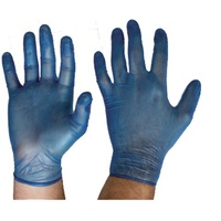 Vinyl Disposable Gloves - Blue Powderfree