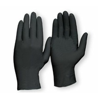 Extra Heavy Duty Nitrile Disposable Gloves - Black
