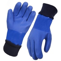 Blue PVC Knit Wrist Freezer Glove