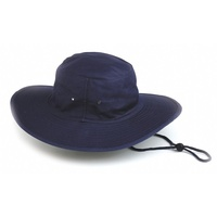 Cotton Drill Wide Brim Hat - Closed Crown