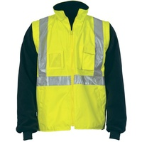 4 in 1' Reversible Vest Hi-Vis Cross Back with Zip Off Sleeves