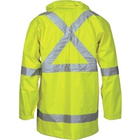 2 in 1 Rain Jacket Hi-Vis Cross Back