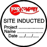 Custom Site Induction Decals (Pack of 100)
