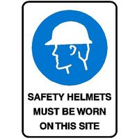 Mandatory Sign - Safety Helmets Must Be Worn On This Site