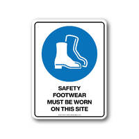 Mandatory Sign - Safety Footwear Must Be Worn On this Site