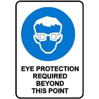 Mandatory Sign - Eye Protection Required Beyond This Point