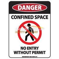 Danger Confined Space Safety Sticker
