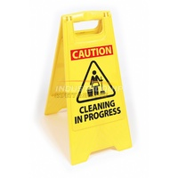 Plastic Floor Safety Sign - Cleaning In Progress