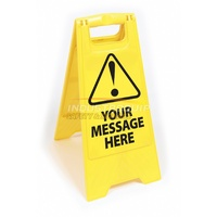 Plastic Floor Safety Sign - Custom Text