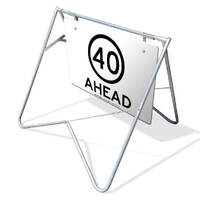 Swing Stand & Sign - 40km/h Speed Limit Ahead - 1200 x 900mm