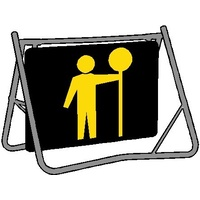 Swing Stand & Sign - Traffic Controller (Nightwork)  - 1200 x 900mm