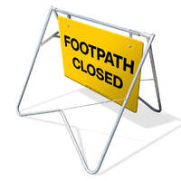 Swing Stand & Sign - Footpath Closed - 900 x 600mm