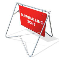 Swing Stand & Sign - Marshalling Zone - 900 x 600mm