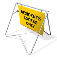 Swing Stand & Sign - Residents Access Only - 900 x 600mm