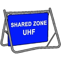 Swing Stand & Sign - Shared Zone UHF - 900 x 600mm