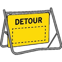Swing Stand & Sign - Detour  - 900 x 600mm