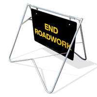 Swing Stand & Sign - End Roadwork - (Nightwork) - 1200 x 900mm
