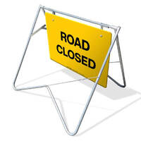 Swing Stand & Sign - Road Closed - 900 x 600mm