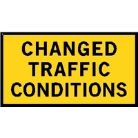 Boxed Edge Road Sign - Changed Traffic Conditions - 1800 x 900mm
