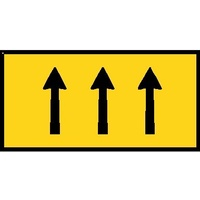 Boxed Edge Road Sign - 3 Lane Status - 1800 x 900mm