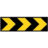 Boxed Edge Road Sign - Chevron - 1500 x 450mm