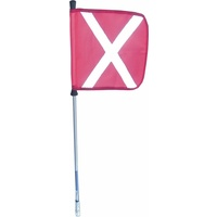 1.5M Mining Flag with Pole including Joiner & Snap On Fitting