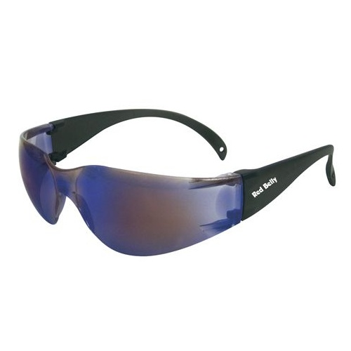 Red Belly Safety Glasses - Blue Mirror