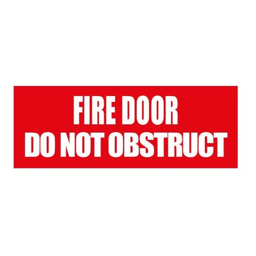 Fire Door Do Not Obstruct - 300mm x 225mm - Poly