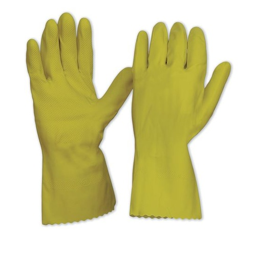 Yellow Silver Lined Gloves - 7