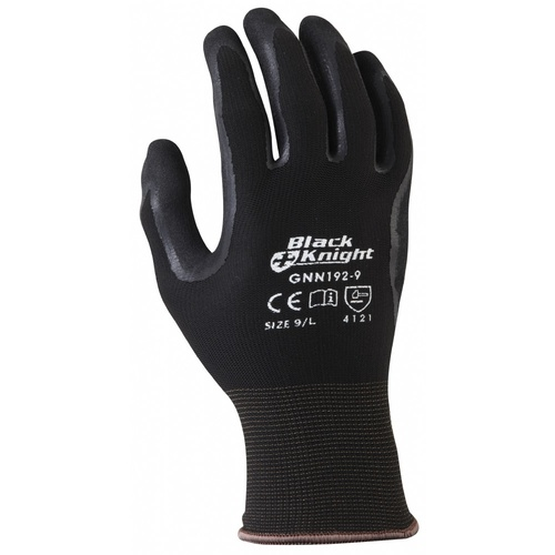 Black Knight Gripmaster Safety Glove - 9