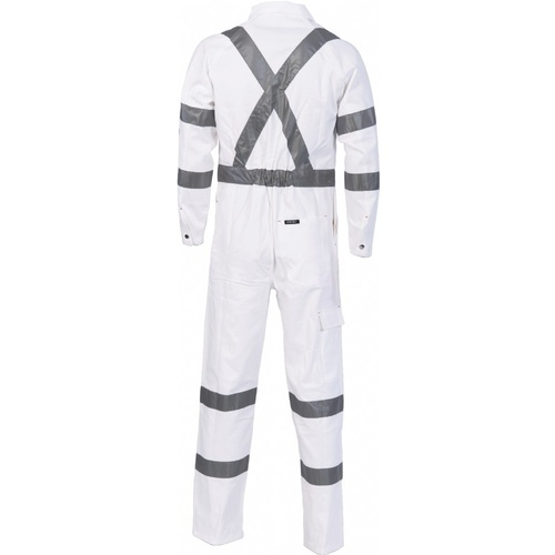 RTA Night Worker Coverall with 3M 8910 R/Tape - White - 102R