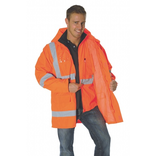 6 in 1' Rain Jacket & Vest - Orange - S
