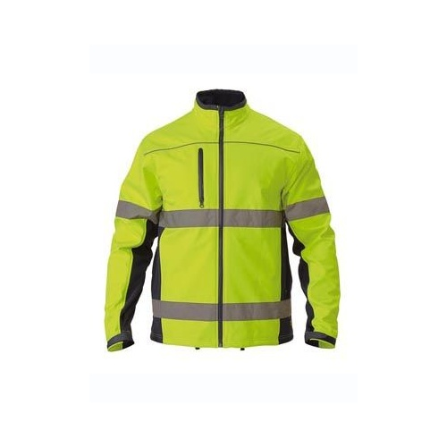 Bisley Premium Soft Shell Jacket With 3M Reflective Tape [Colour: Orange/Navy]