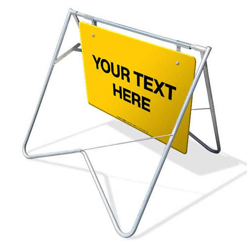Custom Swing Stand & Sign - 900 x 600mm With Custom Text