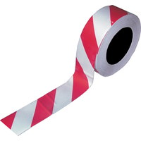 Heavy Duty Floor  Marking Tape - PVC Red/White Size: 48mm x 33.0 Metres