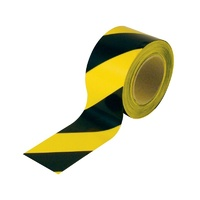 Black/Yellow Barrier Tape - 100M x 75mm
