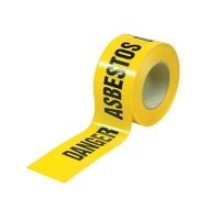 Danger Asbestos Barrier Tape - 50M x 75mm