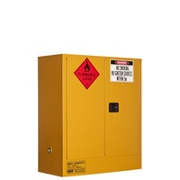 Flammable Liquids Cabinet 160 Litre 2 Door, 2 Shelves for Dangerous Goods Storage Complies to Australian Standard: AS1940 Fireproof Cabinet