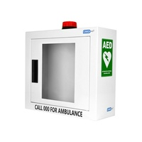 CardiACT™ AED Defibrillator Wall Cabinet Cases With Audible Alert Alarm & Flashing Strobe Light