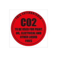 Fire Extinguisher Signs - Co2 - Plastic
