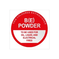 Fire Extinguisher Signs - Powder BE - Plastic