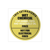 Fire Extinguisher Signs - Wet Chemical - Plastic